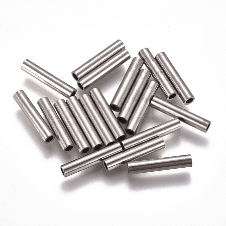 304 Stainless Steel Tube Beads STAS-F224-01P-E-1