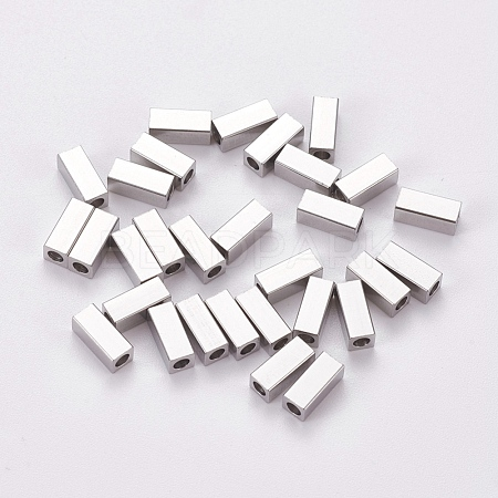 304 Stainless Steel Beads STAS-L224-001B-1
