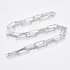 Brass Flat Oval Paperclip Chain Necklace MakingMAK-S072-07B-P-2