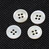 Flat Round River Shell ButtonsBUTT-I014-05-1