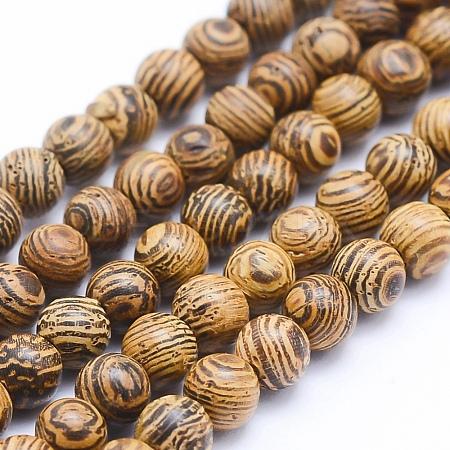 Natural Sandalwood Beads StrandsWOOD-P011-05-10mm-1