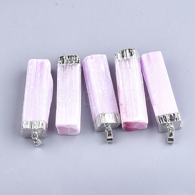 Electroplate Natural Selenite Big PendantsX-G-S344-41B-1