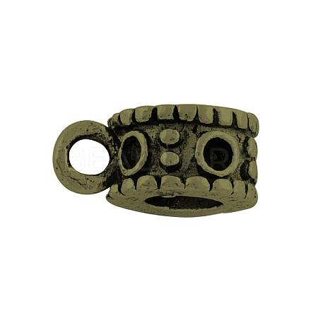 Donut Tibetan Style Alloy Hanger Link Rhinestone SettingsX-TIBE-30266-AB-FF-1