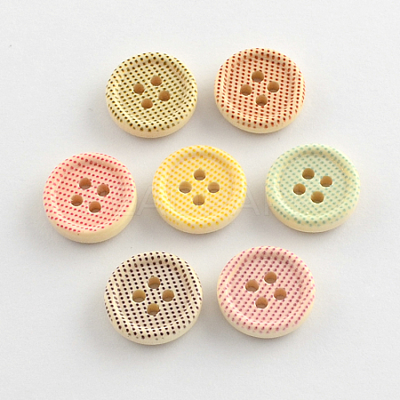 4-Hole Printed Wooden ButtonsX-BUTT-R032-070-1