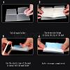 Portable Foldable Plastic Mouth Cover Storage Clip OrganizerAJEW-E034-71F-5