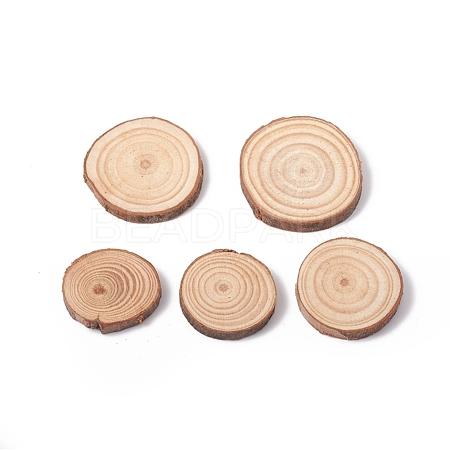Unfinished Natural Poplar Wood CabochonsX-WOOD-E018-12-1
