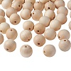 Unfinished Wood Beads X-WOOD-S651-30mm-LF-1