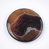Natural Banded Agate/Striped Agate Pendants G-T105-41-3