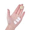 White Rectangle Jewelry Price TagsTOOL-C003-02-3