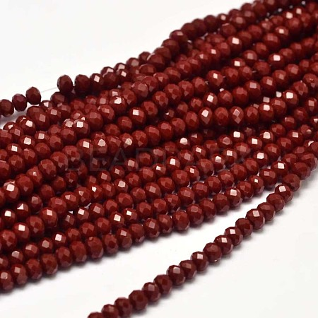 Faceted Rondelle Glass Beads StrandsX-GLAA-I033-4mm-26-1