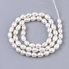 Natural Cultured Freshwater Pearl Beads Strands PEAR-Q015-036A-01-2