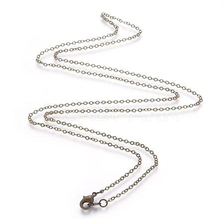 Brass Necklace MakingX-NJEW-SW028-26inch-AB-1