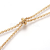 304 Stainless Steel Lariat NecklacesNJEW-O107-05G-4