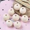 Natural Unfinished Wood Beads WOOD-S651-A30mm-LF-5