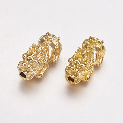 Real 24K Gold Plated Alloy BeadsX-PALLOY-L205-03G-1