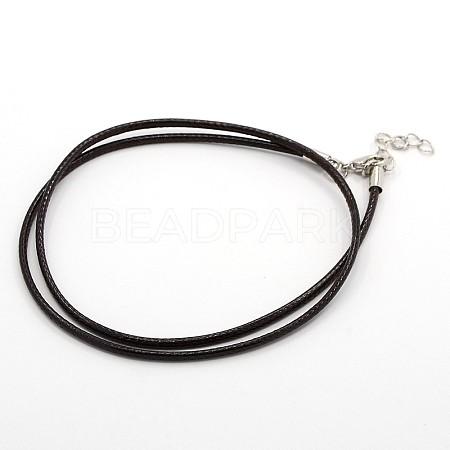 Waxed Cord Necklace MakingMAK-F003-07-1