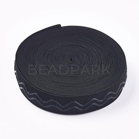 Polyester Non-Slip Silicone Elastic Gripper BandSRIB-WH0006-22A-01-1