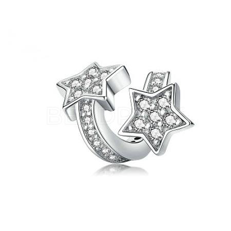 925 Sterling Silver Euorpean BeadsSTER-FF0013-02-1