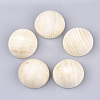 Unfinished Natural Wood Cabochons X-WOOD-S052-01E-1