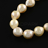 Natural Baroque Pearl Keshi Pearl Beads Strands PEAR-Q004-37-2