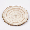 Undyed Wooden Cabochons X-WOOD-T011-25-3