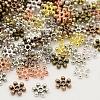 Mixed Tibetan Silver Snowflake Spacer BeadsX-TIBEB-X0009-1
