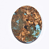 Assembled Natural Bronzite and Synthetic Turquoise PendantsG-S329-033-3