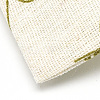Polycotton(Polyester Cotton) Packing Pouches Drawstring BagsABAG-T004-10x14-16-4