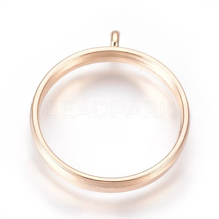 Alloy Open Back Bezel Pendants X-PALLOY-WH0030-01G-1
