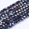 Faceted Round AB Color Electroplate Glass Beads Strands X-EGLA-J042-4mm-AB01-2