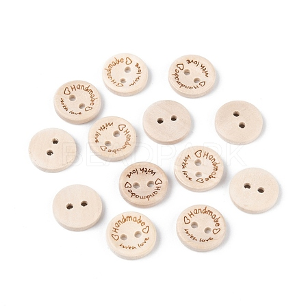 Wooden Buttons BUTT-K007-08A-1