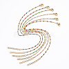 304 Stainless Steel Cable Chain Anklets AJEW-H010-01-1