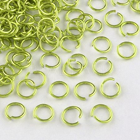 Aluminum Wire Open Jump RingsX-ALUM-R005-0.8x6-07-1