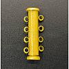 4-strands Brass Slide Lock ClaspsX-KK-Q268-2-1