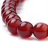 Natural Carnelian Beads Strands G-S259-32-6mm-3