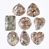 Synthetic Aqua Terra Jasper Pendants G-S329-036-1