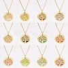 SUNNYCLUE® 304 Stainless Steel Pendant Necklaces NJEW-SC0001-03G-6