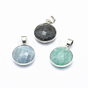 Natural Mixed Stone Pendants G-O182-09M-1