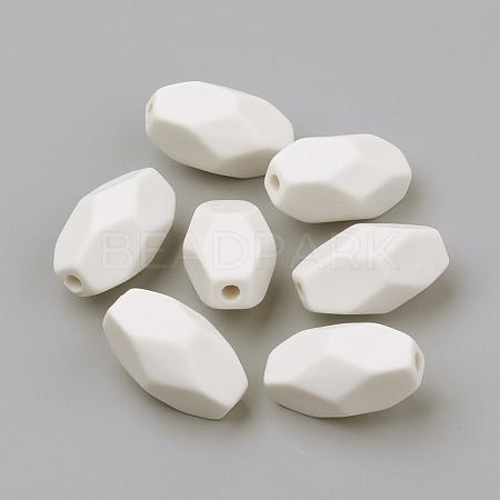 Opaque Acrylic BeadsX-SACR-R902-20-1