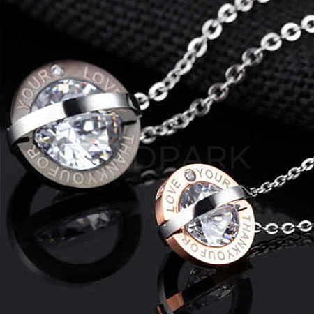 Fashewelry® Stainless Steel Pendant Necklaces NJEW-FW0001-02M-1