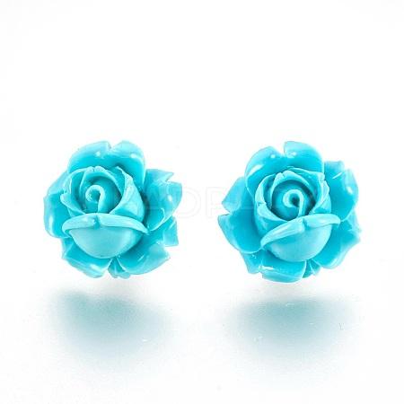 Coral Flower Earring(Lotusflower)EJEW-25X16-6-1