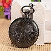 Openable Flat Round Alloy Pendant Pocket WatchWACH-L024-16-4