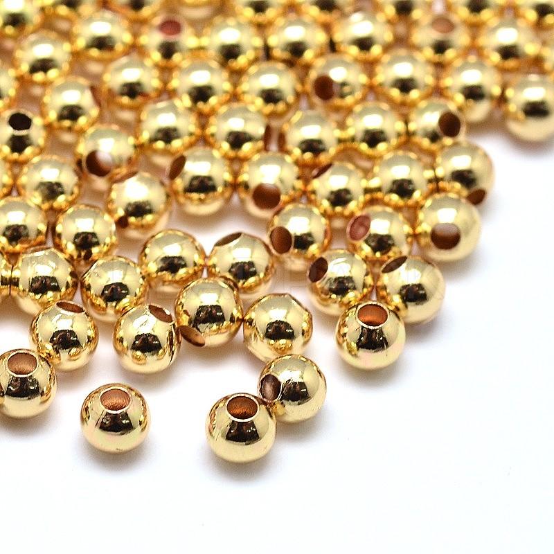 Kk Diamond Centre Kuching Kkdc Home: Environmental Brass Round Beads, Lead Free & Cadmium Free