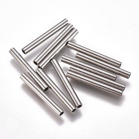 304 Stainless Steel Tube Beads STAS-F224-01P-G-1