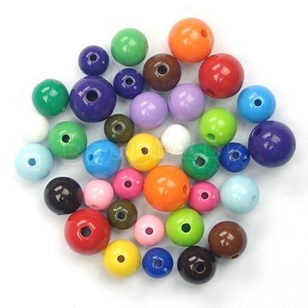 Mixed Color Acrylic Jewelry BeadsM-PAB70-1-1