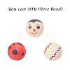 Unfinished Natural Wood Beads Spacer Craft Beads for DIY Macrame Rosary JewelryX-WOOD-S651-25mm-LF-5