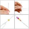 Iron Collapsible Big Eye Beading NeedlesTOOL-R095-04-4