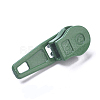 Spray Painted Alloy Replacement Zipper SlidersPALLOY-WH0067-97K-2