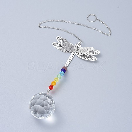 Crystals Chandelier Suncatchers Prisms Chakra Hanging PendantAJEW-I040-15P-1