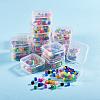 Transparent Plastic Bead ContainersCON-YW0001-04-5